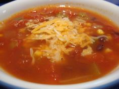 spicy southwest veggie soup -- like at potbelly :) nomz