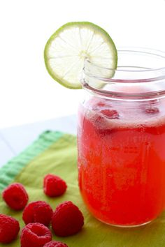 There's no recipe, but raspberries and lime sound wonderful together.