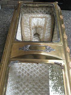 Antique Victorian Bronze Coffin | eBay