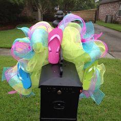 Flip flop mailbox swag