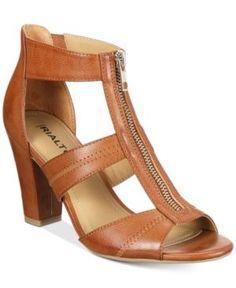 Rialto Ritz Block-Heel Dress Sandals - Brown 7.5M