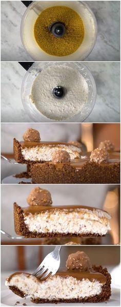 Torta Ferrero Rocher Cremosona e Super Fácil de fazer! (veja a receita passo a passo) #torta #tortaferrerorocher #ferrerorocher #sobremesa #tastemade