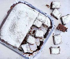 Sicher kennen Sie unser Schokoladewürfel schon lange. Dessert Party, Eat Dessert First, Chocolate Cube, Coconut Chocolate, Cubes, Cookies, Recipe Of The Day, Bread Baking, No Bake Cake