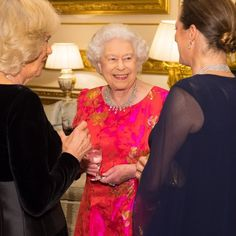 Queen Elizabeth II looked fantastic as she hosted a private dinner at Windsor Castle in honor of the diamond jubilee of the Aga Khan's leadership as Imam of the Shia Ismaili Muslim Community.   Photo: Dominic Lipinski-WPA Pool/Getty Images
