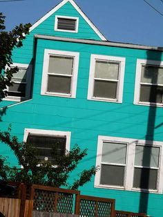 Bright colored houses on pinterest beach shack energy - Bright paint colors for exterior house ...