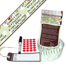 Mommy Measure- pregnancy growth chart & journal - have to figure out how to make this for everyone I know when they announce their pregnancies!