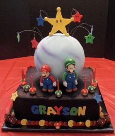@Ariana Raska & @Elyssia Raska Mario & Luigi Cake!