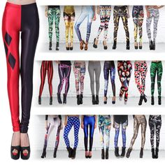 Hot Sexy Lady Pattern Print Women Stretch Leggings Tight Pencil Skinny Pants #Unbranded
