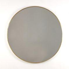 1960s Italian brass framed mirror - 170 cm in Mirrors from Fiona McDonald