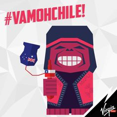 Chile V/S Australia! Virgin Mobile Chile supported our national team on Brasil 2014! #VamohChileCTM