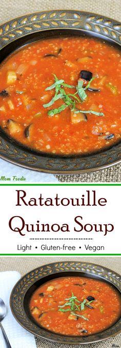 Light Ratatouille Quinoa Soup - gluten-free & vegan recipe