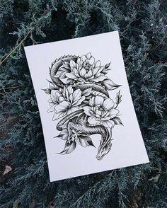Super dragon tattoo desing for women ink 40 ideas Dragon Tattoo With Flowers, Small Dragon Tattoos, Dragon Tattoo For Women, Japanese Dragon Tattoos, Small Flower Tattoos, Dragon Tattoo Sketch, Dragon Thigh Tattoo, Dragon Sleeve Tattoos, Tattoos Skull