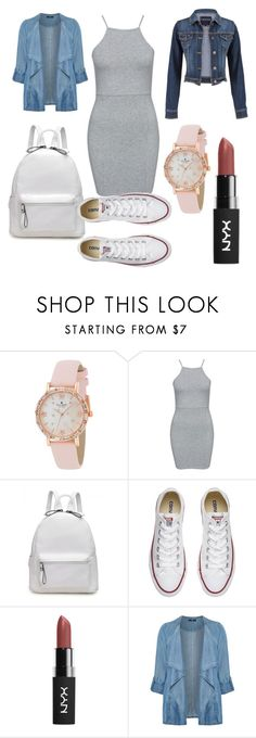 """""""Casual Summer"""" by fashion-crazy-emillie ❤ liked on Polyvore featuring Kate Spade, NLY Trend, Converse, Evans, maurices and plus size clothing"""
