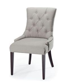 """Amanda"" Linen Dining Chair http://topdiningrooms.blogspot.com/"