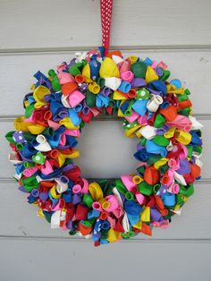 Balloon Wreath by ritzywreaths on Etsy, $60.00