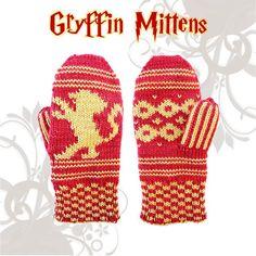 Mittens pattern Gryffin reversible knitting - Biscotte yarns