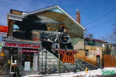 Street Art in Cabbagetown, Toronto Downtown Toronto, Condos For Sale, Semi Detached, Niagara Falls, 19th Century, Facade, The Neighbourhood, Graffiti, Brick