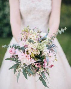 Breezy, beachy wildflower bouquet by Kimana Littleflower for this intimate seaside wedding near Charleston, SC.