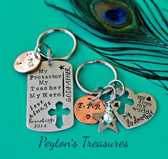 Hand Stamped Godparent Godmother and Godfather by PeytonsTreasures