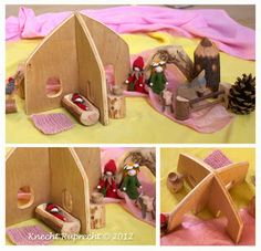 Portable Imaginative Play Waldorf Dollhouses