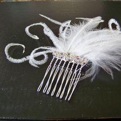 silver fascinator comb