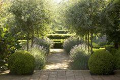 topiary balls and soft planting - Rural Retreat ‹ Peter Fudge