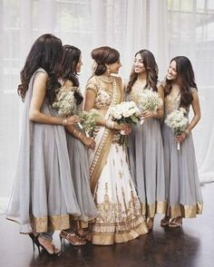 Long beautiful hair was made to be let down. And if your bridesmaids happen to