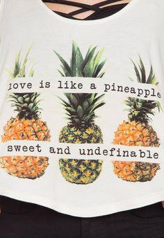 Pineapple Love Crop Top