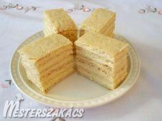 Ez is hasonlít az általam keresetthez. Hungarian Desserts, Hungarian Cake, Hungarian Recipes, Sweet Cookies, Sweet Treats, Slovak Recipes, European Cuisine, Vanilla Cake, Sweet Recipes