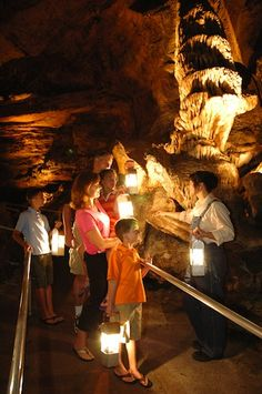 Show Me Caves in Branson, MO.  One of our few family vacations growing up was to Branson.  Our mother fell in the cavern and was injured.