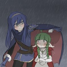 Like sisters! :) Reminds me of Ephraim and Myrrh from Sacred Stones. Love the conversations, especially in the Hot Springs DLC.