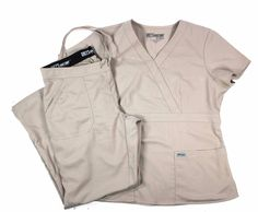 Womens Grey's Anatomy Scrub Set Top Size Large Pants Size Medium Tan #GreysAnatomy