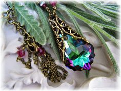 New Swarovski Electra Coated Crystal Antique by HisJewelsCreations, $32.00