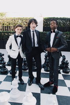 Caleb McLaughlin Finn Wolfhard Photos - (L-R) Actors Noah Schnapp, Finn Wolfhard, and Caleb McLaughlin attend 'Finn Wolfhard, Caleb McLaughlin and Noah Schnapp prepare for the 74th annual Golden Globes Awards' on January 8, 2017 in Los Angeles, California. - Finn Wolfhard, Caleb McLaughlin, and Noah Schnapp Prepare for the 74th Annual Golden Globe Awards