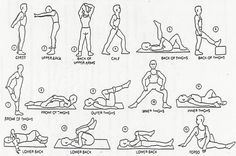<p>Here are warm up stretches to do before running. I've done many of these through track and field and cross country practice. </p>