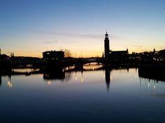 Tramonto a Stoccolma #stoccolma #tramonto #_in_Svezia