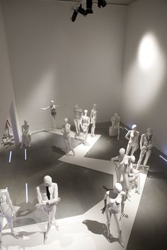 Showroom of Bonami mannequins in Aalter, Belgium Studio Interior, Shop Interior Design, Retail Design, Interior Decorating, Fashion Window Display, Fashion Showroom, Exhibition Display, Shop Interiors, Display Design