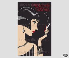 Art Deco Woman Cross Stitch Woman Cross by NewYorkNeedleworks