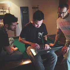 #BBB, @m_shinoda and @chesterbe writing the latest update from the studio sent a few weeks ago. Stay tuned for another studio update coming soon.