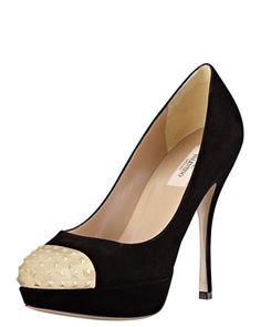 Extreme Suede Pump  by Valentino at Bergdorf Goodman. $795