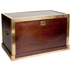 Cedar Chest with Brass Banding, circa 1900 | From a unique collection of antique and modern blanket chests at https://www.1stdibs.com/furniture/storage-case-pieces/blanket-chests/