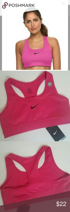 Nike Dri-Fit Medium Impact Sports Bra With a low profile and racerback design, this women's Nike compression sports bra is a versatile, everyday favorite. From warm up to cool down, this women's Nike sports bra will be there to support you through your most intense workouts. Perfect for medium-impact exercises such as biking Nike Dri-FIT moisture-wicking technology keeps you cool and dry Low-profile bonded seams provide comfort during workouts.  *Price firm unless bundled Nike Intimates…