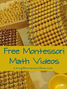 Free #Montessori #Math Videos