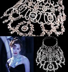 Did You Know?The most expensive piece of jewelry ever designed specifically for a movie was worn by Nicole Kidman in the musical Moulin Rouge. The one million dollar creation was designed by Stefano Canturi and made of Platinum with 1,308 diamonds for a combined total of 134 carats. Isn't that fabulous?!