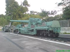 The last surviving Bethlehem Steel 177 railway gun bought in 1941 by the Brazilian army for coastal defense, is now on display at Museu Militar Conde de Linhares in Rio de Janeiro, Brazil.