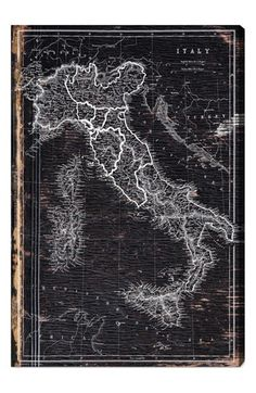 Oliver Gal 'Map of Italy 1873' Wall Art available at #Nordstrom