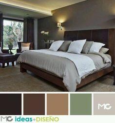ideas-decorating-marriage-room - How to organize Bedroom Color Schemes, Bedroom Colors, Dream Bedroom, Home Decor Bedroom, Bedroom Ideas, Ideas Decorar Habitacion, Chocolate Bedroom, Master Room, Beautiful Bedrooms
