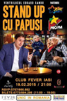 Unic in Romania – STAND UP CU PAPUSI @Fever Club