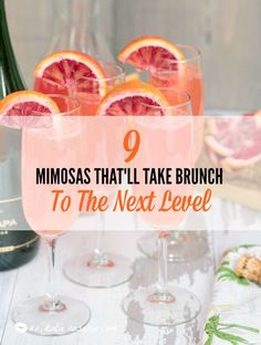 I love brunch! I am so excited to try all of these delicious mimosa recipes for my next big brunch with the girls. I like that it's so much more than orange juice and champagne this is next level. The combinations are delicious! Birthday Brunch, Brunch Party, Brunch Wedding, Sunday Brunch, Brunch Punch, Drinks Wedding, Easter Brunch, Sunday Funday, Sweet Champagne