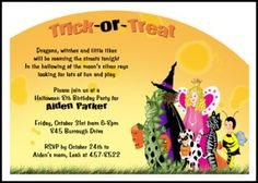 Party halloween party invitation wording as an alternative for spooky and kooky kids birthday party halloween invitation number 7796hi hw exclusively at holiday stopboris Gallery